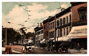 Connecticut  New Haven ,  Broadway and Elm Street , Antique cars, Carriages