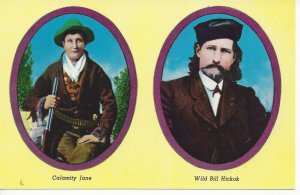 Postcard South Dakota Wild Bill Calamity Jane Portraits Unposted