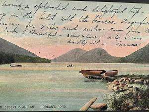 Postcard  1907 View of Jordan's Pond ,Mt. Desert Island, ME.   U6