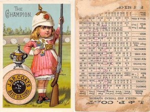 Victorian Trade Card Approx size inches = 3 x 4.5 Pre 1900 dried glue and pap...