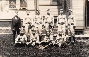 High School Ball Team, Savannah, New York NY USA, Baseball, Postcard Savanna...