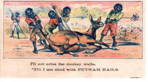VICTORIAN TRADE CARD,  PUTNAM NAIL.