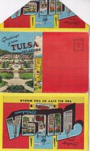 Postcard Folder Of TULSA, Oklahoma, 1930-1940s
