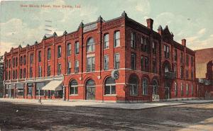 E38/ New Castle Indiana In Postcard 1909 New Bundy Hotel Building
