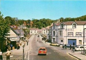 Greetings from Walles llangollen High Street Clwyd postcard royal hotel cars