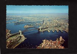 Aerial View Australia Sydney Bridge Postcard Carte Postale