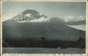 Japan - Mt. Fuji From Lake Kawaguchi c1910 Postcard