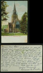 Christ Church Fredericton NB PC c 1910  Fair Condition