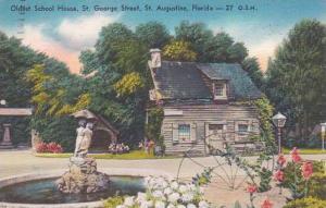 Florida Saint Augustine Oldest School House Saint George Street 1958 Albertype