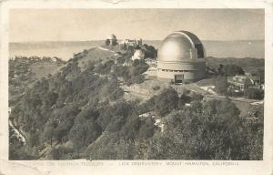 Mount Hamilton CA~Lick Observatory~Telescope Building~1959 Real Photo~RPPC