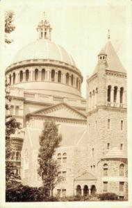 USA first church of christ scientist Boston Massachusetts RPPC 02.63
