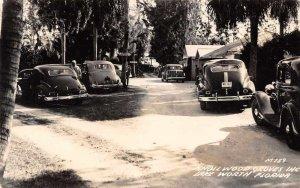 Lake Worth Florida Knollwood Groves Cars Parked Real Photo Postcard AA11188