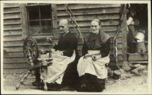 Allanstand Western NC Cottage Folk Art Industry SCARCE Real Photo Postcard #1