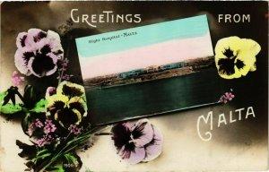 CPA AK MALTA-Greetings from Malta (320193)