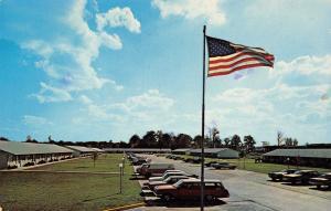 Fort Wayne Indiana~Senior Town Apartments~1960s Station Wagon Under Flag~PC