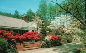 Southern Pines, NC, Residence in the Springtime, Chrome Vintage Postcard g8949
