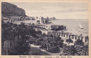 Mondello Lido (Palermo) - Panorama e Viale Regina Elena , Italy , 1910s
