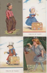 GLAMOUR FANTAISIE GREETINGS FÉTES 120 Cartes Postales 1900-1940 in album