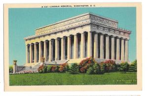 Washington DC Lincoln Memorial Vtg BS Reynolds Postcard