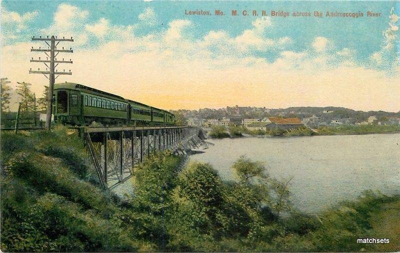 Bridge C-1910 Railroad Lewiston Maine MC Railroad Androggin River Leighton 3551