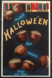 Mint Vintage USA Picture Postcard PPC Uncertainly Halloween Hope Despair