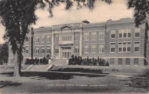 High School, North Attleboro, Massachusetts, Early Postcard, Unused