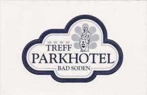 GERMANY BAD SODEN TREFF PARK HOTEL VINTAGE LUGGAGE LABEL