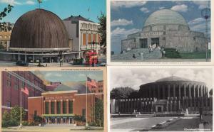 Dusseldorf Hayden London Adler 4x World Planetarium Postcard s