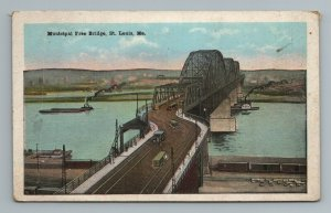 Municipal Free Bridge St Louis MO Missouri Postcard