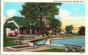 Fernwood Country Club McComb Miss. Vintage Postcard Standard View Card