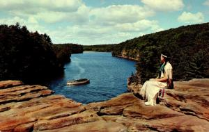 Wisconsin Dells Indian Maiden View From High Rock