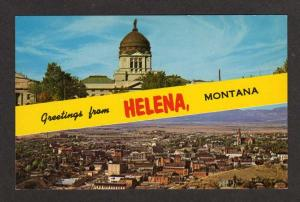 MT Greetings from HELENA MONTANA Postcard PC Aerial