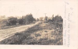 Greenbush Wisconsin~Dirt Road To Town~NP Arrive~Expected Erwin DeSmidt~1907 RPPC
