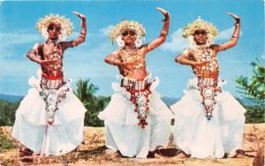 KANDYAN DANCERS CEYLON AFRICA POSTCARD