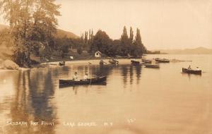 Sabbath Day Point Lake George New York Boats Postcard