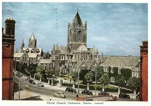 Ireland Dublin Christchurch Cathedral Dublin Ireland Postcard Posted 1957