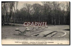 Postcard Old Forest of Compiegne Carrefour L & # 39Armistice Pres Rethondes l...
