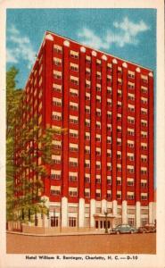 North Carolina Charlotte Hotel William R Barringer 1949 Dexter Press