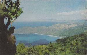 A beautiful view of the Magen's Bay in St. Thomas, Virgin Islands,  40-60s