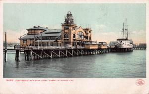 Auditorium & Ship Hotel Cabrillo, Venice, California, Early Postcard, Unused