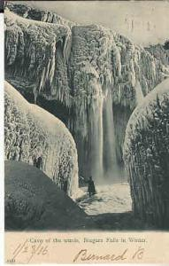 US - NY Cave of the Winds, Niagra Falls in Winter  1906