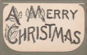 Christmas Embossed Letters