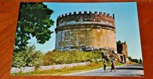 tomb of cecilia metella Rome Roma Italy Postcard fotocolor Kodak Via Appia