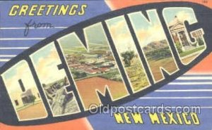 Deming, New Mexico, USA Large Letter Town Unused