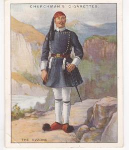 Cigarette Cards Churchman WARRIORS OF ALL NATIONS No7 The Evzone larger size