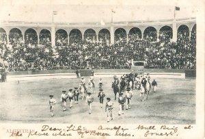 Bullfighting. Algeciras. Paseo de la cuadrilla  Old vintage Spanishpostcard