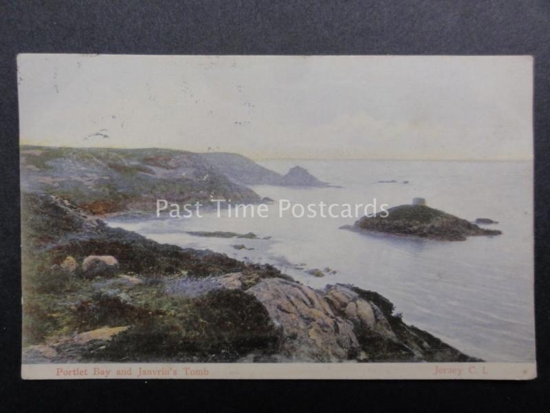 Channel Islands: JERSEY Portlet Bay and Janvrin's Tomb c1905 by The Milton 123
