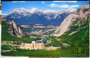 Canada Banff Springs Hotel Bow Valley Fairholm Range - unposted