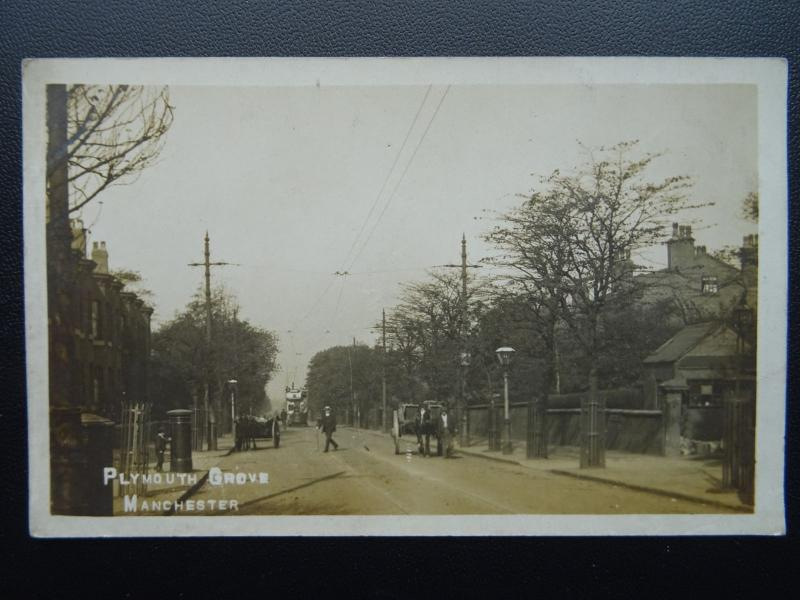 Manchester PLYMOUTH GROVE - Old RP Postcard by Webster
