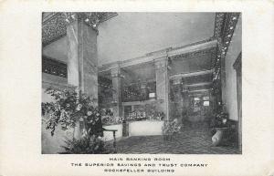 Cleveland Ohio~Flora-Filled Lobby Rockefeller Superior Savings & Trust~1906 pc